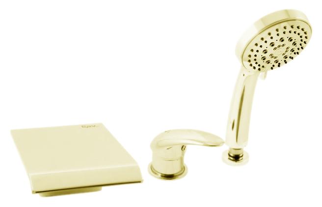 Dunaj D473.5YZ золотойСмесители<br>Смеситель на борт ванны Rav Slezak Dunaj D473.5YZ монолитный, с душевым гарнитуром, изготовлен из высококачественной латуни, которая исключает какую-либо коррозию. Латунные рукоятки. Качественный керамический картридж 40 мм Kerox, производство Венгрия, гарантирует долговечность и мягкий поток воды. При открытии ручки и поворота влево рычага вода вытекает из излива, а вправо - из душевой лейки. Пластиковый шланг с пружиной, которая обеспечивает лёгкое возвращение шланга в держатель. Длина шланга 2000 мм. Пластиковая душевая лейка с пятью режимами, с антикальк резиновыми насадками. Цена указана за смеситель, шланг, душевую лейку, гибкую подводку и комплект крепления. Все остальное приобретается дополнительно.<br>