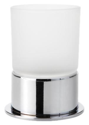 Omega 138110061 Хром/ПрозрачныйАксессуары для ванной<br>Стакан Bemeta Omega 138110061. Материал латунь/стекло. Монтаж настольный. Ширина 8 см. Глубина 8 см. Высота 9,5 см. Объем 0.3 л. Цвет держателя хром, цвет стакана прозрачный. Фактура держателя глянцевая, фактура стакана матовая.<br>