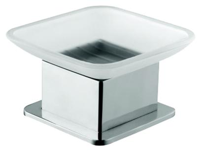 Plaza 140108191 Хром/ПрозрачныйАксессуары для ванной<br>Мыльница Bemeta Plaza 140108191. Материал латунь/стекло. Монтаж настольный. Ширина 8,5 см. Глубина 8,5 см. Высота 5,5 см. Цвет держателя хром, цвет мыльницы прозрачный. Фактура держателя глянцевая, фактура мыльницы матовая.<br>