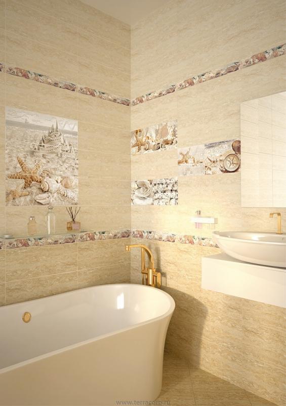 Керамическая плитка Azori Caliza Beige Arena 50,5x60,3 панно стоимость