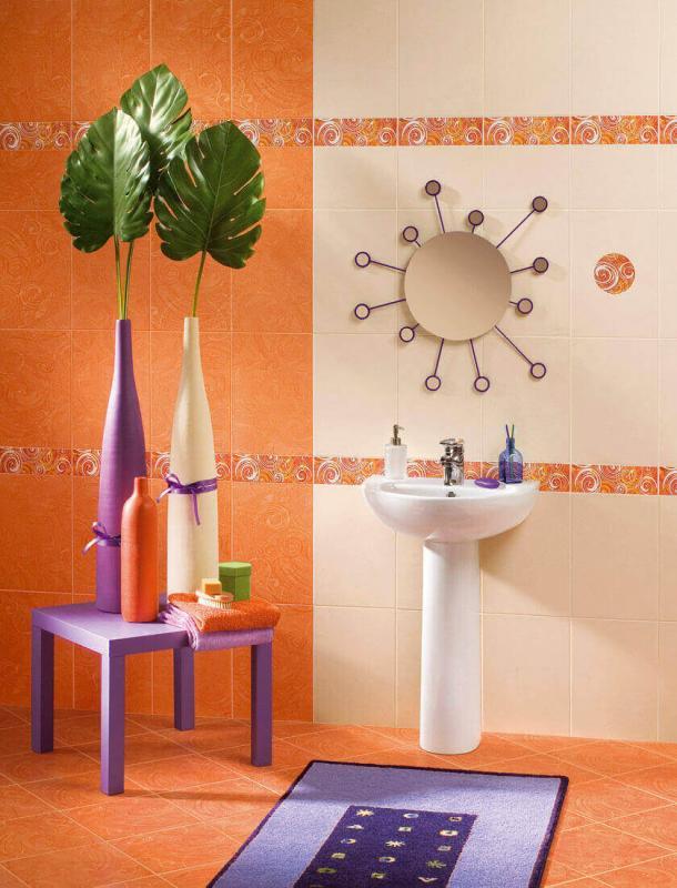 Керамическая плитка Azori Фьюжн Коралл Рондо 27,8х40,5 декор