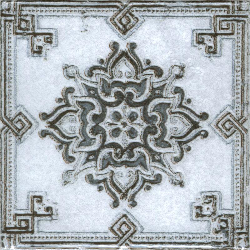 Керамическая плитка Absolut Keramika Decor m2 Grey 10х10 настенная Benfica
