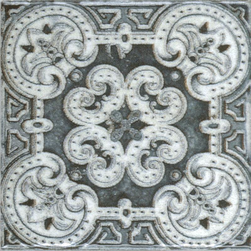 Керамическая плитка Absolut Keramika Decor m2 Porto Grey 10х10 настенная Benfica