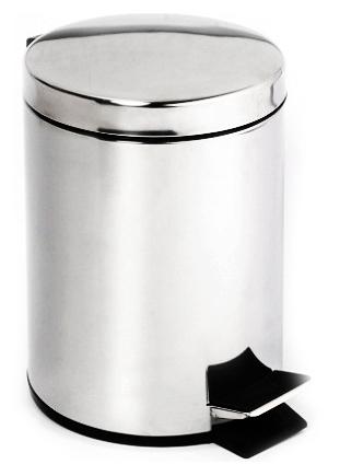 Trend-i 104315102 Хром/ЧерныйАксессуары для ванной<br>Ведро для мусора Bemeta Trend-i 104315102 с педалью. Объем 40 л. Материал латунь. Монтаж напольный. Ширина 35 см. Высота 65 см. Цвет хром/черный. Фактура глянцевая.<br>