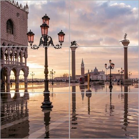 Керамическое панно Керамин Венеция из стекла 60х60 см стоимость