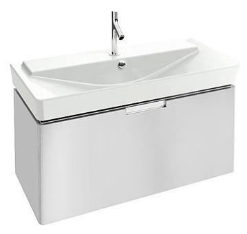 Reve EB1132-G1C БелаяМебель для ванной<br>Тумба под раковину подвесная Jacob Delafon Reve EB1132-G1C с одним выдвижным ящиком с механизмами доводчика.<br>