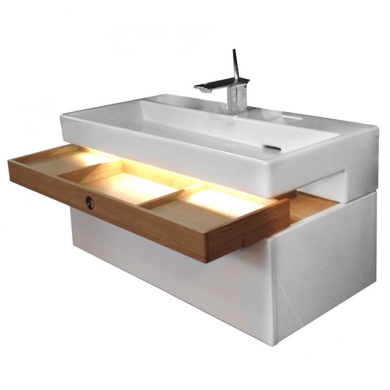Terrace EB1188-G1C  БелаяМебель для ванной<br>Тумба под раковину подвесная Jacob Delafon Terrace EB1188-G1C с 3 ящиками с механизмом доводчика. В комплекте поставки только тумба.<br>