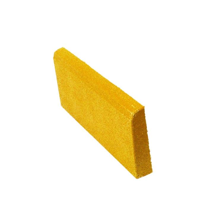 Резиновая плитка ST Бордюр желтый - фото