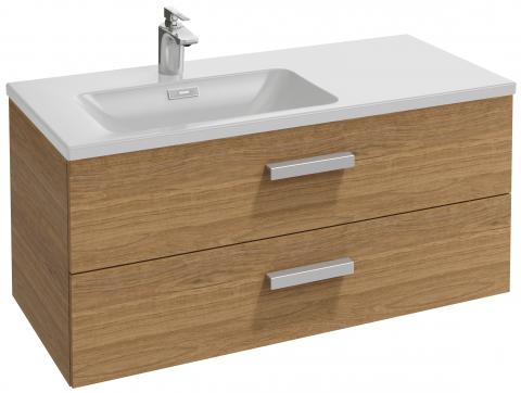 Vox EB2075-R1-N18 Белый глянец LМебель для ванной<br>Тумба под раковину-столешницу Jacob Delafon Vox EB2075-R1-N18 левосторонняя, 2 выдвижных ящика с механизмом  плавное закрывание . Набор ящичков для хранения. Комплект ножек, B38 см, изогнутая ручка.<br>