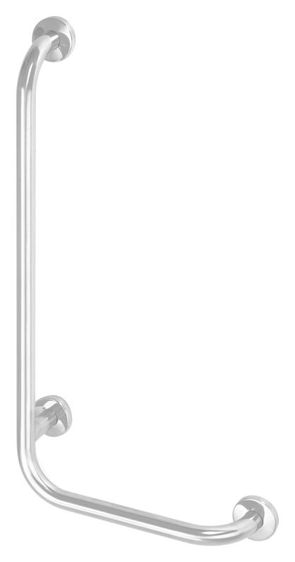 Help 301112074 БелаяАксессуары для ванной<br>Поручень для ванны Bemeta Help 301112074 настенный левый. Материал нержавеющая сталь. Монтаж подвесной. Ширина 62,8 см. Высота 67,8 см. Глубина 11 см. Цвет белый. Фактура матовая. В поставку входят болты из нержавеющей стали с пластмассовыми дюбелями для монтажа в полнотелом кирпиче и бетоне. Для других стен необходимо выбрать крепёжные элементы, соответствующие нагрузке. Для людей с ограниченными физическими возможностями.<br>