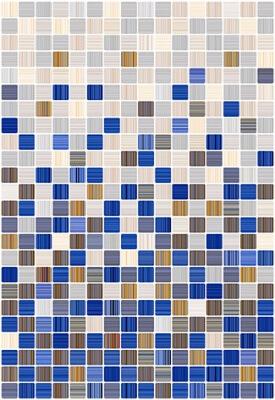 Фото - Керамическая плитка Керамин Гламур 2С голубой микс настенная 00-00001796 27,5х40 см керамическая плитка керамин гламур 4т черный настенная 00 00001800 27 5х40 см