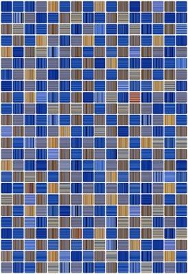 Керамическая плитка Керамин Гламур 2Т голубой настенная 00-00001795 27,5х40 см