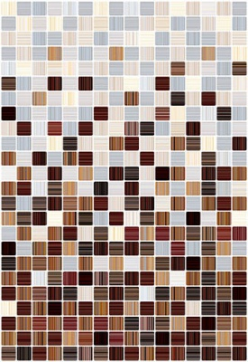 цена на Керамическая плитка Керамин Гламур 3С коричневый микс настенная 27,5х40