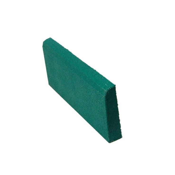 Резиновая плитка ST Бордюр зеленый 500x250х40 мм стоимость