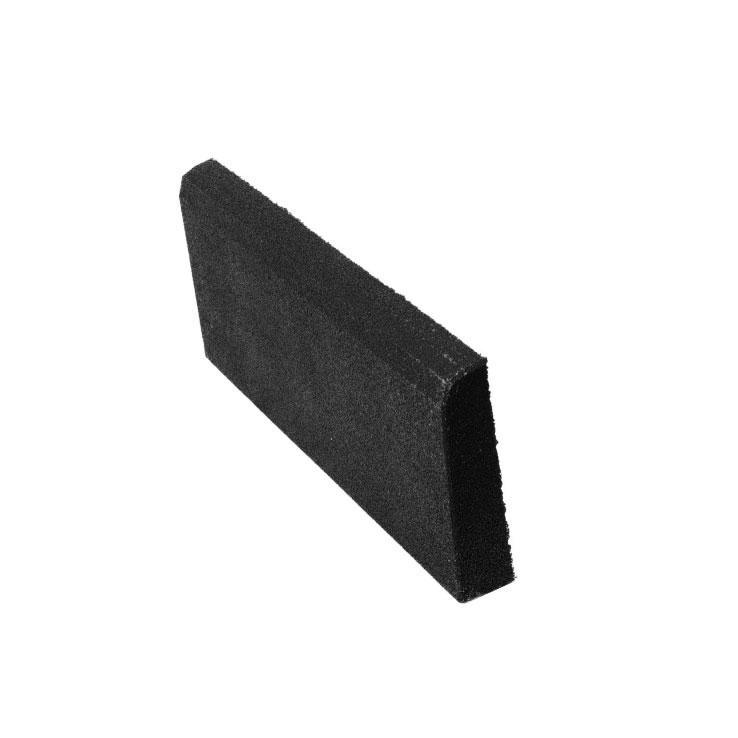 Резиновая плитка ST Бордюр черный 500x250х40 мм стоимость