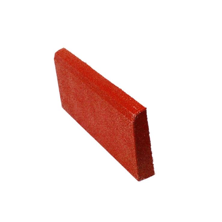 Резиновая плитка ST Бордюр красный 500x250х40 мм стоимость