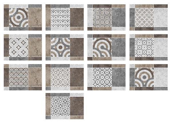 Фото - Керамическая плитка Керамин Калейдоскоп 3М настенная 27,5х40 ideal arkansas 317 natural 3м