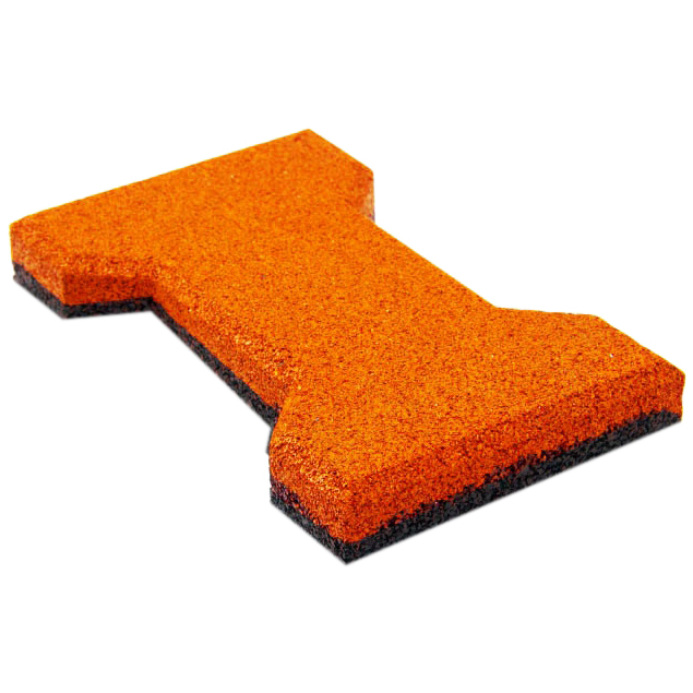 Резиновая плитка ST Катушка 20 мм оранжевая - фото