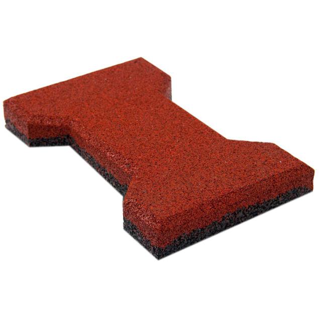 Резиновая плитка ST Катушка 20 мм красная - фото