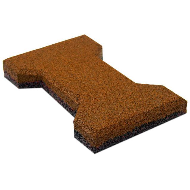 Резиновая плитка ST  Катушка 20 мм коричневая - фото