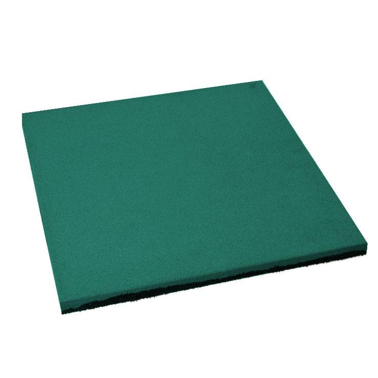 Резиновая плитка ST Плитка Квадрат 16 мм зеленая - фото