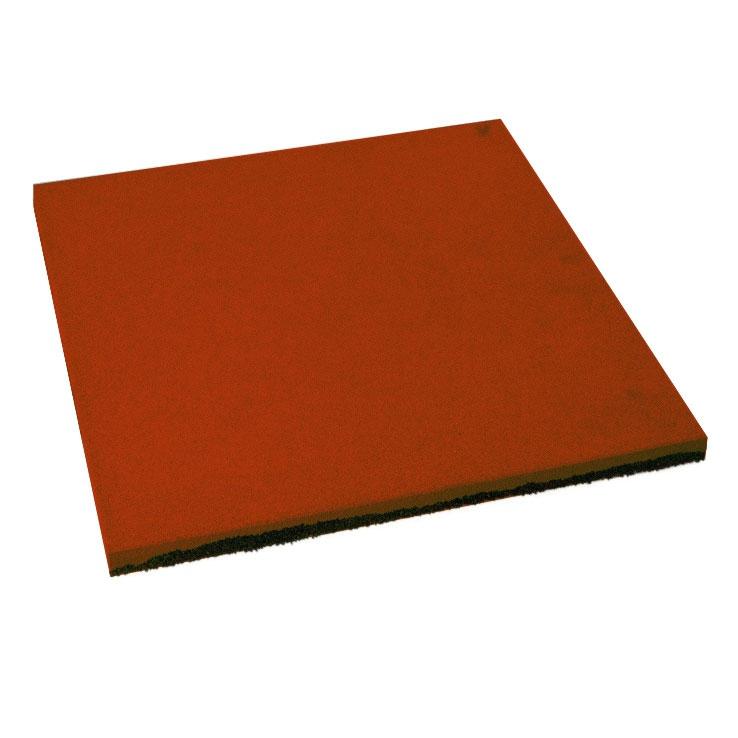 Резиновая плитка ST Плитка Квадрат 16 мм красная - фото