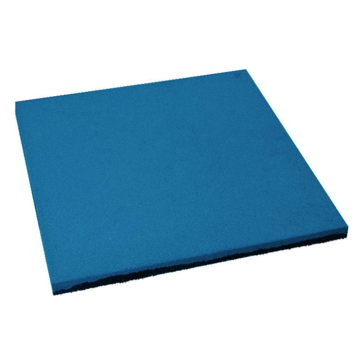 Резиновая плитка ST Плитка Квадрат 16мм синяя - фото