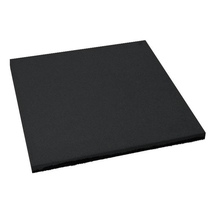 Резиновая плитка ST Плитка Квадрат 20 мм черная - фото