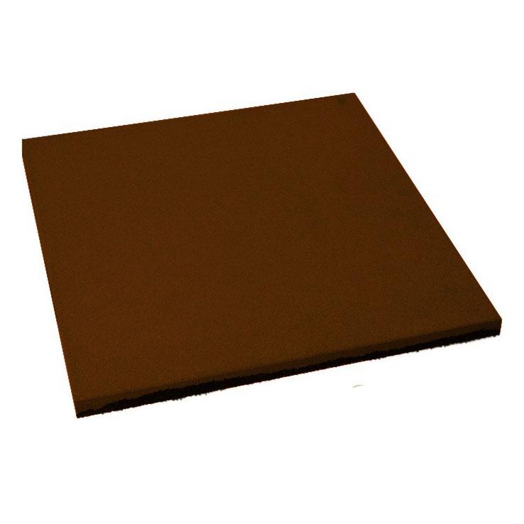Резиновая плитка ST Плитка Квадрат 20 мм коричневая - фото
