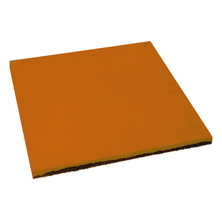 Резиновая плитка ST Плитка Квадрат 20 мм оранжевая - фото