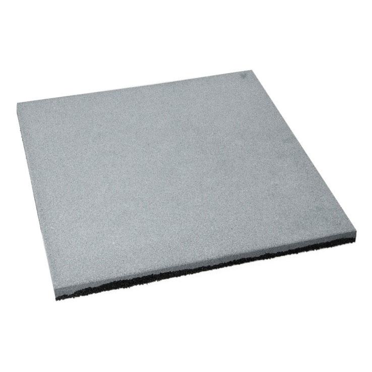 цена на Резиновая плитка ST Плитка Квадрат 20 мм серая 500x500х20 мм