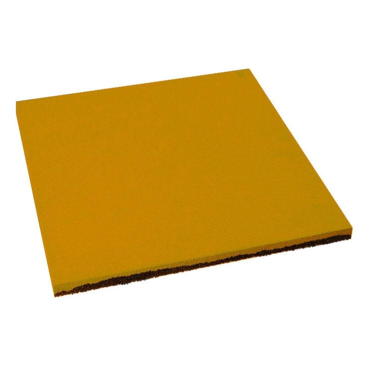 Резиновая плитка ST Плитка Квадрат 40 мм желтая 500x500х40 мм фото