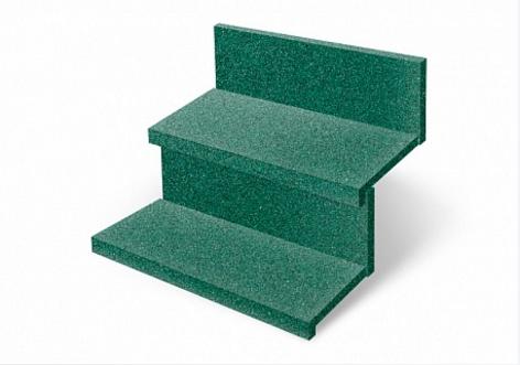 купить Резиновая плитка ST Противоскользящая Ступень зеленая 500х500х20 мм дешево