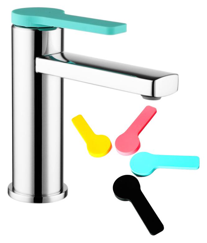 Color Plus COLSBC0i01 хром, в комплекте с черным, мятным, тыквенным и розовым чехламиСмесители<br>Смеситель для раковины Iddis Color Plus COLSBC0i01 изготовлен из высококачественной латуни, стойкой к коррозии. Четыре цветных силиконовых чехла комплекте, смеситель можно использовать без чехла на ручке. Никель-хромовое покрытие корпуса, превышающее по толщине европейские стандарты, обеспечивает надежную защиту и гарантирует идеальный зеркальный блеск. Силиконовый аэратор Turn Flow представляет собой подвижную сетку, которая позволяет направить поток под нужным углом одним движением пальца и легко очищается. Встроенный ограничитель потока оптимизирует расход воды без потери комфорта. Долговечный керамический картридж Kerox 35 мм, с системой шумопоглощения. Минимальный уровень шума благодаря гладкой внутренней поверхности смесителя, рассекателям в водозапорных механизмах и аэратору. Гибкая подводка G1/2, длиной 350 мм.<br>
