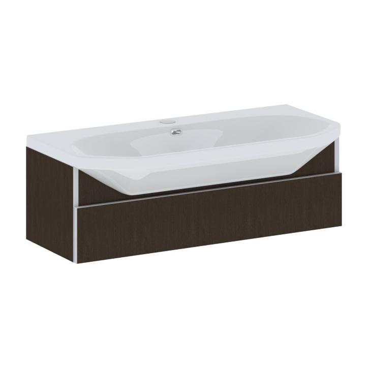 Flex 110 подвесная ВенгеМебель для ванной<br>Тумба с раковиной Wenz Flex 110 подвесная, с одним ящиком. Все дополнительное оборудование приобретается отдельно.<br>