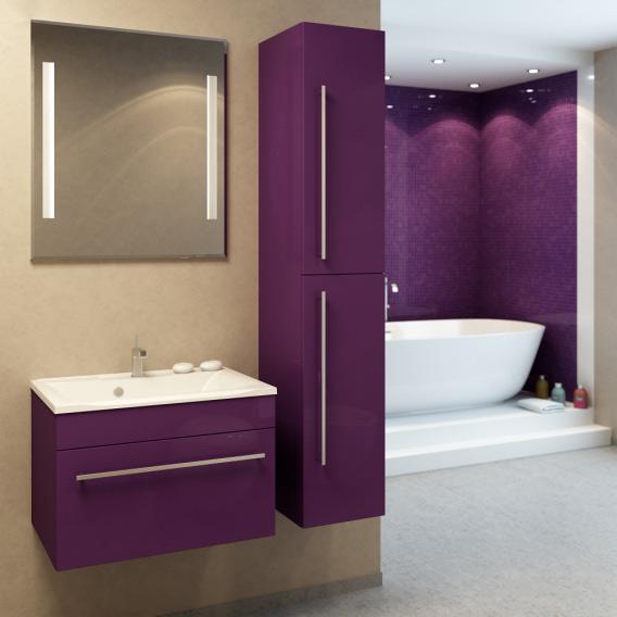 Прима 75 подвесная Покрытие глянецМебель для ванной<br>Тумба под раковину Фэма Стиль Прима 75 подвесная. Коврик против скольжения, крепеж к стене и ручка в комплекте.<br>