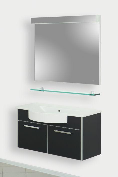 Fonte-V 85 ЧернаяМебель для ванной<br>Тумба подвесная Gemelli Fonte укомплектованная раковиной Fonte. Все комплектующие приобретаются отдельно.<br>