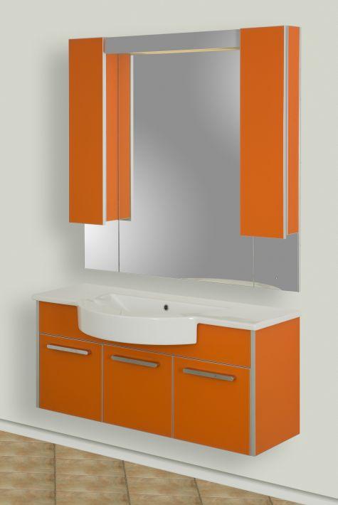 Fonte-V 105 подвесная РозоваяМебель для ванной<br>Тумба подвесная Gemelli Fonte укомплектованная раковиной Fonte. Все комплектующие приобретаются отдельно.<br>