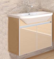 Stilus 95 подвесная Кофейная (стекло)Мебель для ванной<br>Тумба подвесная Gemelli Stilus укомплектованная раковиной Fusion. Все комплектующие приобретаются отдельно.<br>