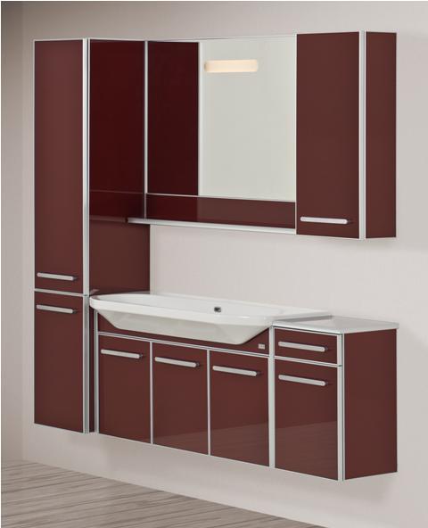 Life 110 подвесная Оранжевая (матовое стекло)Мебель для ванной<br>Тумба подвесная, укомплектованная раковиной Fusion. Все комплектующие приобретаются отдельно.<br>