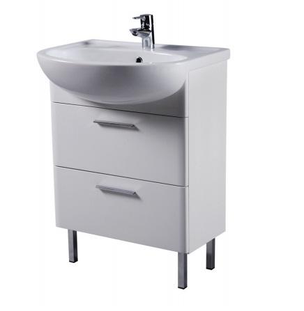 Sense M75FUX0602WG 60 смМебель для ванной<br>Тумба под раковину AM PM Sense M75FUX0602WG, шириной  60 см. Модель в современном стиле с двумя удобными, просторными ящиками для хранения, оснащенными доводчиками. В цену включена только тумба. Раковину, а также другие предметы из коллекции вы можете заказать отдельно.<br>