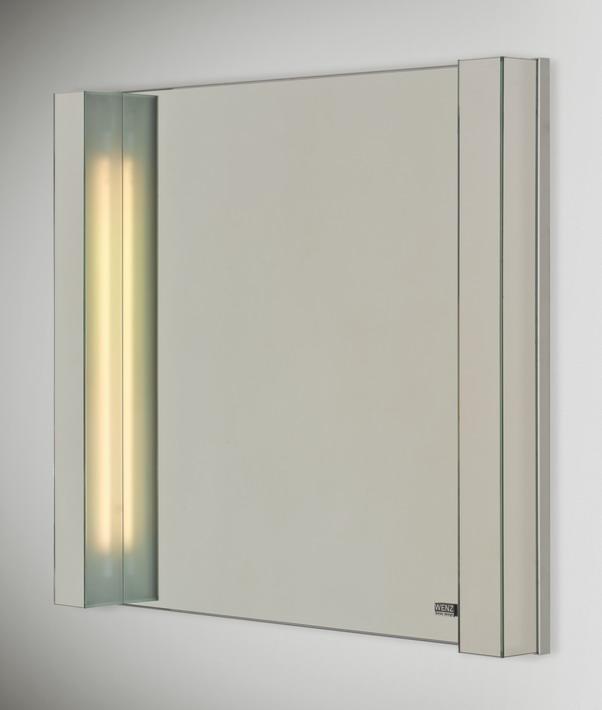 Next 80 II 100 смМебель для ванной<br>Зеркало с люминесцентным освещением Wenz Next с технологией Touch-Tronic позволяющей прикосновением включат/выключать подсветку зеркала. Возможны различные варианты рисунка на зеркале. Размер : 100 х 9,5 x 80 см.<br>