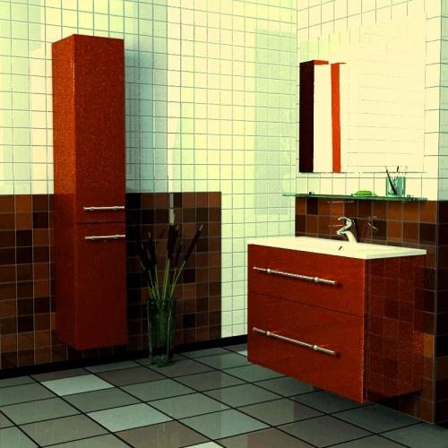 Style 80 Box Lite подвесная Категория 1Мебель для ванной<br>Мебель для ванной комнаты Harizma Style 80 Box Lite. В стоимость входит тумба с раковиной. Раковина выполнена из литьевого мрамора, фасады - влагостойкий МДФ ламинированный пленкой ПВХ, фурнитура - tandembox Blum с встроенной системой мягкого закрывания.<br>