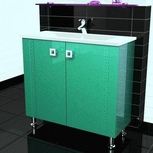 Style 80 Classic на ножках Категория 1Мебель для ванной<br>Мебель для ванной комнаты Harizma Style 80 Classic. В стоимость входит тумба с раковиной. Раковина выполнена из литьевого мрамора, фасады - влагостойкий МДФ ламинированный пленкой ПВХ, фурнитура - tandembox Blum с встроенной системой мягкого закрывания.<br>