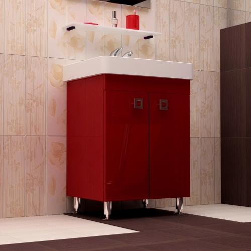 Ceramics 60 Classic на ножках Категория 2Мебель для ванной<br>Мебель для ванной комнаты Harizma Ceramics 60 Classic. В стоимость входит тумба с раковиной.Раковина выполнена из сантехнической керамики, фасады - влагостойкий МДФ ламинированный пленкой ПВХ, фурнитура - tandembox Blum или Jet встроенной системой мягкого закрывания.<br>
