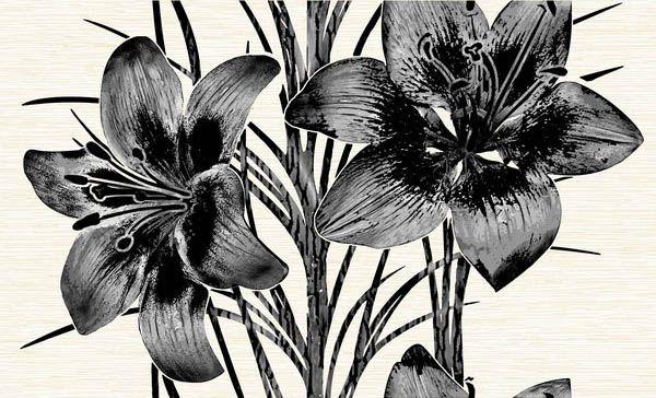 Керамический декор Нефрит Керамика Пиано чёрный 8102 25х40
