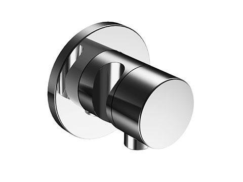 Ixmo 59557 010201 ХромСмесители<br>Внешняя часть запорного вентиля Keuco Ixmo 59557 010201. На 2 потребителя, со шланговым подключением и держателем. Наружный комплект состоит из: рукоятки, гильзы, розетки (круглой) и запорного вентиля переключателя, с обратным клапаном. В комплект поставки входит внешняя часть запорного вентиля.<br>
