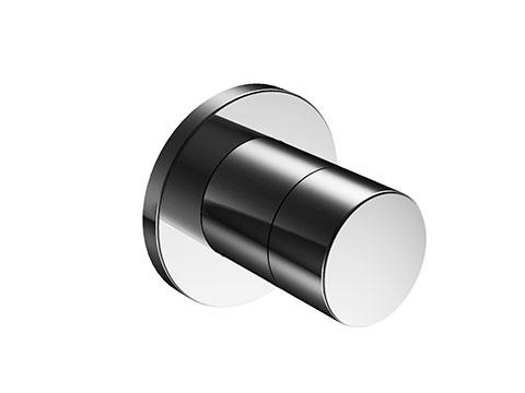 Ixmo 59541 010001 ХромСмесители<br>Внешняя часть запорного вентиля Keuco Ixmo 59541 010001. Наружный комплект состоит из: рукоятки, гильзы, розетки (круглой) и запорного вентиля. В комплект поставки входит внешняя часть запорного вентиля.<br>