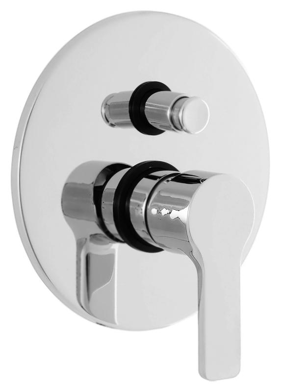 Dolce DOLCE-VDIM-01 хромСмесители<br>Встраиваемый смеситель для ванны Cezares Dolce DOLCE-VDIM-01 однорычажный, изготовлен из качественной латуни. Металлическая рукоятка. Качественный керамический картридж Sedal, Испания. Переключатель ванна/душ. Стандарт подключения G1/2, G3/4. В комплекте поставки: внешняя и внутренняя части смесителя и комплект крепления.<br>