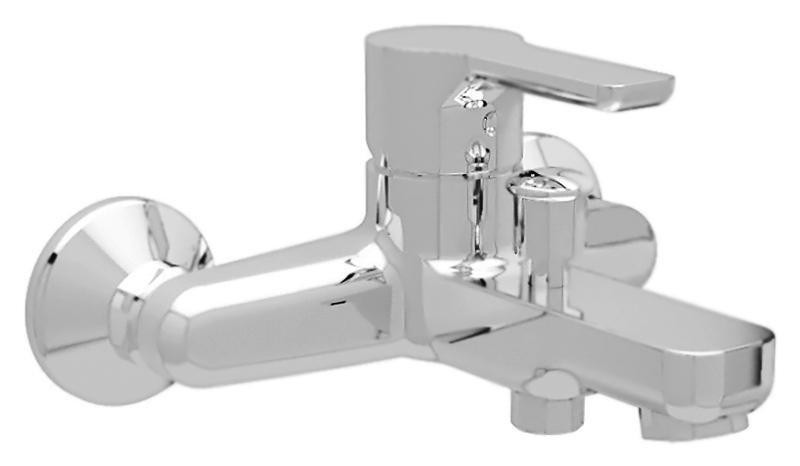 Dolce DOLCE-VM-01 хромСмесители<br>Настенный смеситель для ванны Cezares Dolce DOLCE-VM-01 однорычажный, изготовлен из качественной латуни. Фиксированный излив длиной 162 мм. Металлическая рукоятка. Качественный керамический картридж Sedal, Испания. Переключатель ванна/душ. Подключение шланга снизу. Стандарт подключения G1/2. В комплекте поставки: смеситель и комплект крепления.<br>